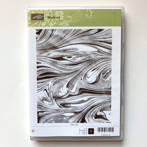Stampin' Up! Marbled Retired Clear Mount Stamp Set